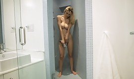Watch her milk cans while she takes shower
